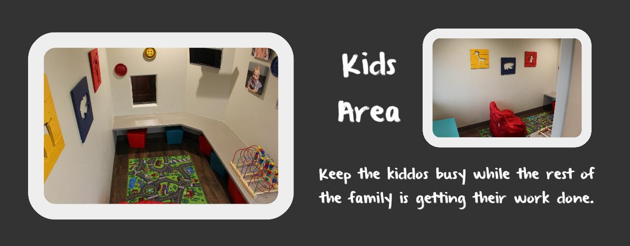 Logan family dentistry kids area
